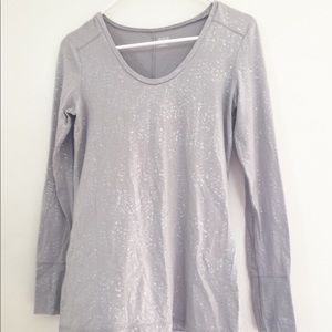 Women's size xs a.n.a long sleeve silver shirt